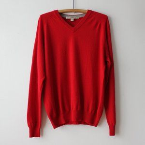 Harry Rosen Red Cashmere Sweater Size Large
